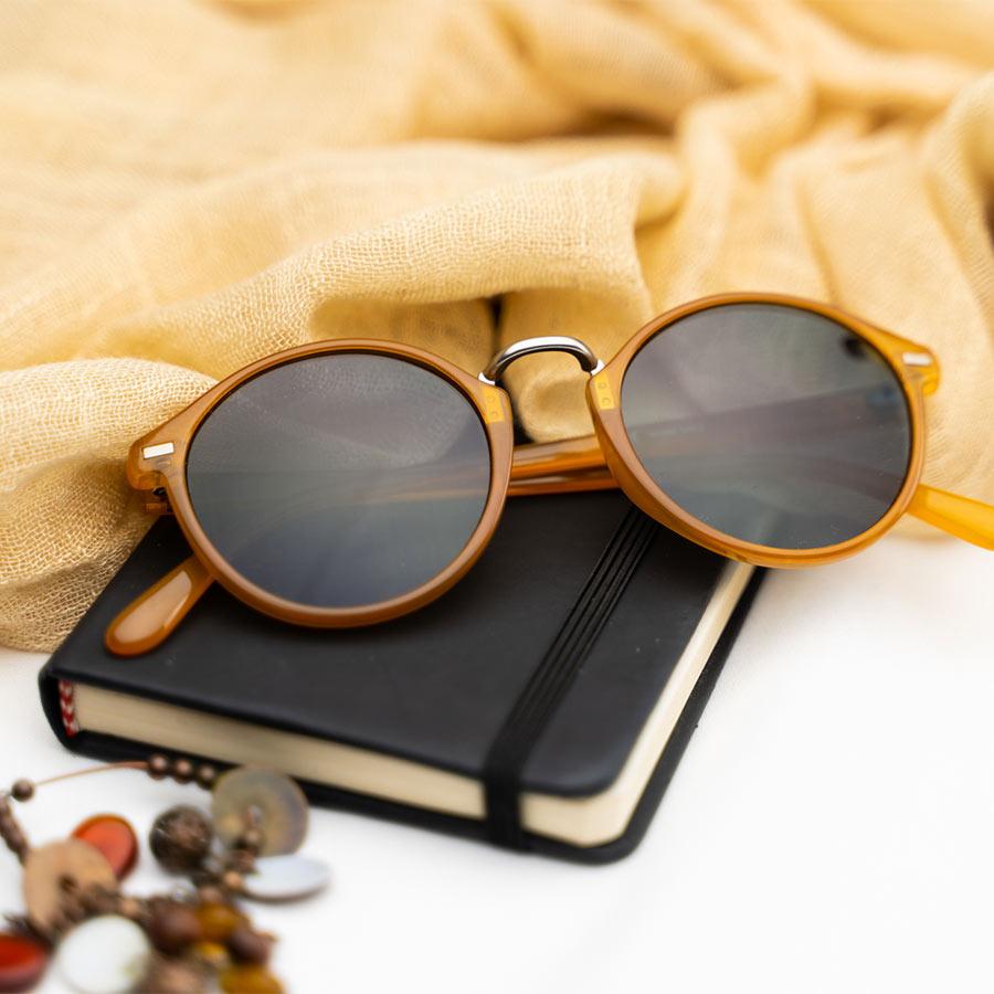Meller Nyasa Bio Amber Carbon sunglasses