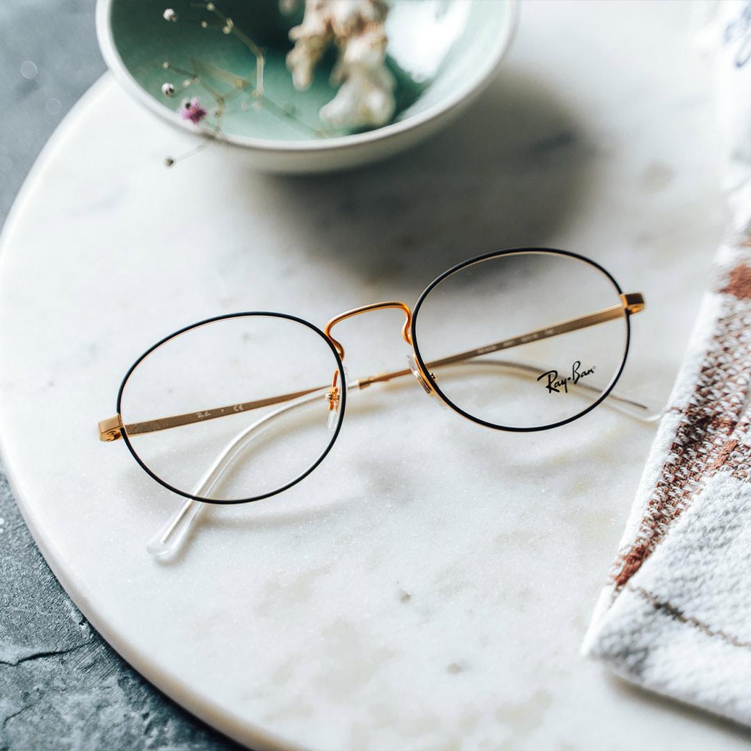 Ray-Ban 0RX6439 3051 52 runda receptbelagda glasögon